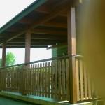 balustrada drewniana zewnetrzna balkon
