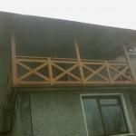 balustrada drewniana zewnetrzna taras