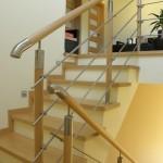 balustrada na schody drewniano-metalowa