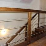 balustrada metal i drewno