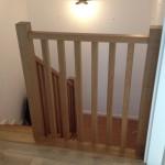 balustrada drewniana dębowa
