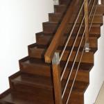 schody dębowe balustrada drewno-stal