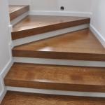 schody dębowe balustrada stal nierdzewna