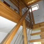schody dębowe konstrukcja na belce