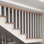 schody balustrada dąb bielony